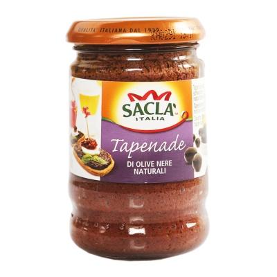 Sacla Tapenade di Olive Nere Naturali 190g