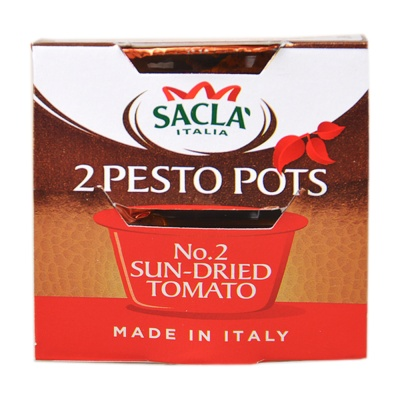 Sacla 2 Pesto Pots No.2 Sun-Dried Tomato 2*45g