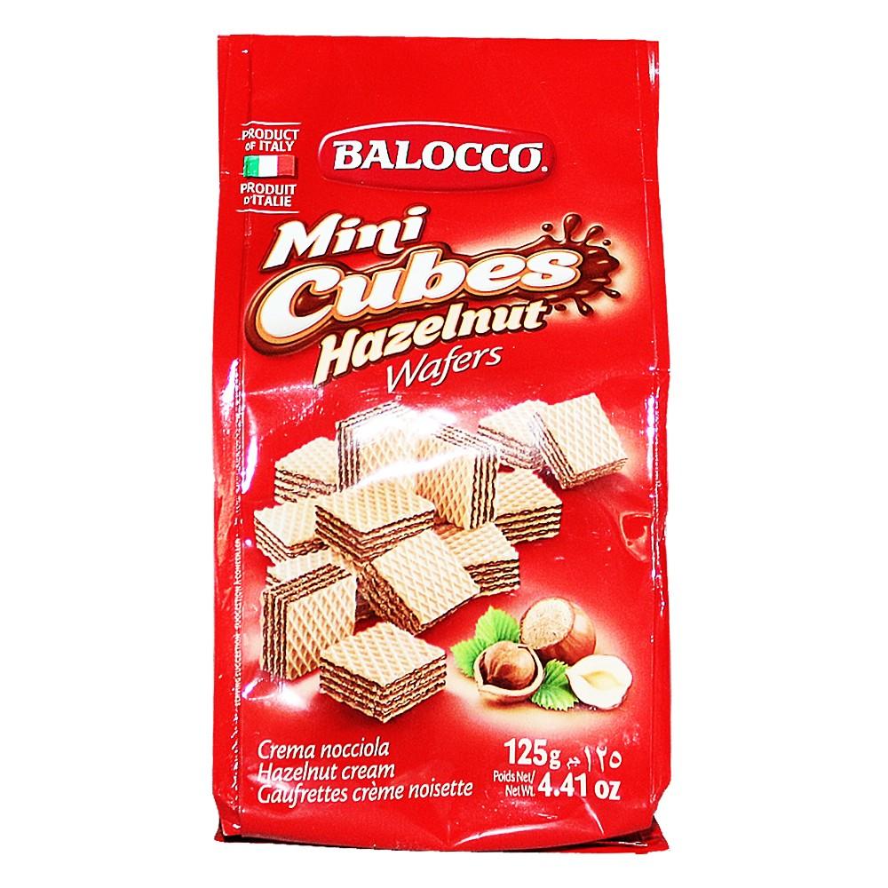 Balocco Mini Cubes Hazelnut Wafers 125g