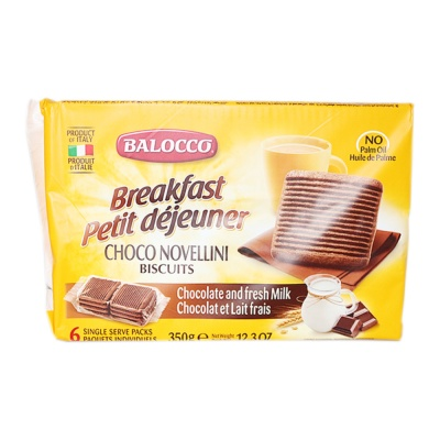 Balocco Chocolate And Fresh Milk Biscuits 350g
