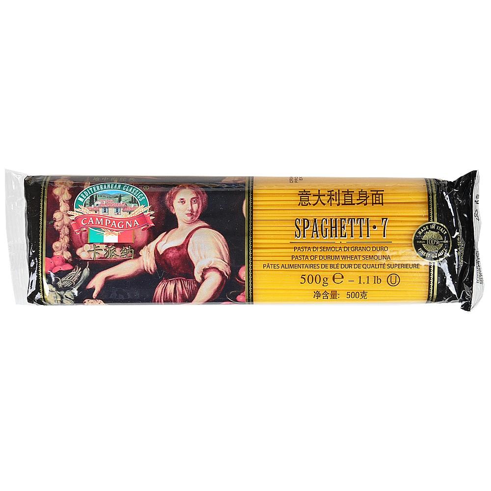 Campagna Spaghetti 7# (Durum Wheat Semolina Pasta) 500g