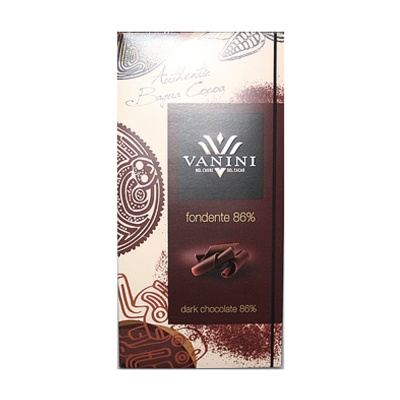 Vanini Dark Chocolate Bars Cocoa 86% 100g