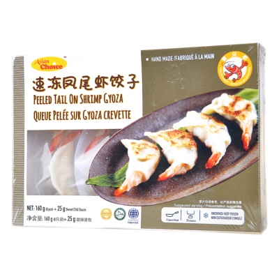 Asian Choice Peeled Tail On Shrimp Gyoza 185g