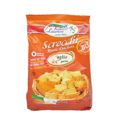 Scrocchi Garlic Crackers 200g