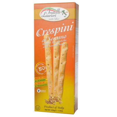 Fratelli Laurieri Sesame Seeds Breadsticks 125g