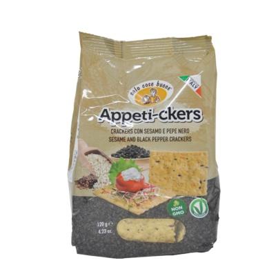 Soio Cose Buone Seame&Black Pepper Crackers 120g