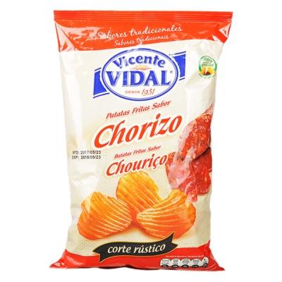 Vidal Sausage Flavor Potato Chips 135g