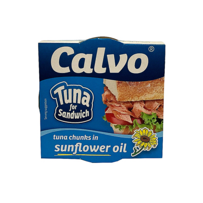 Calvo Tuna Chunks In Sunflower Oil 142g
