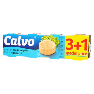 Calvo Tuna In Vegetable Oil 4*80g