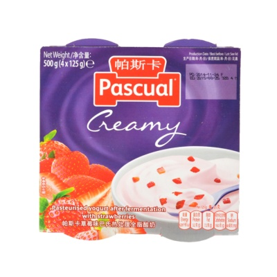 Pascual Thick & Creamy Strawberry 4*125g