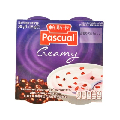 Pascual Thick & Creamy Black Cherry 4*125g