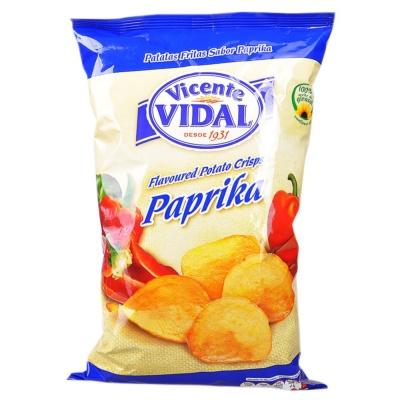Vidal Paprika Flavoured Potato Crisps 135g