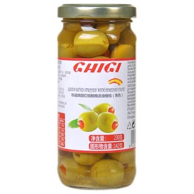 珗唛牌甜红椒酿腌渍油橄榄(青色) 230g