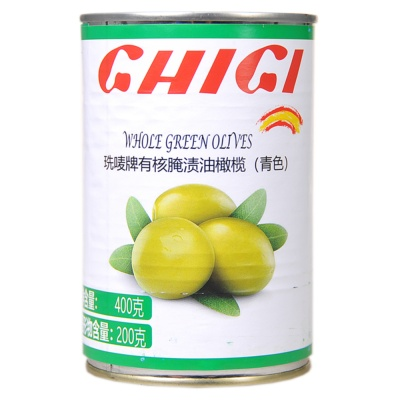 Ghigi Whole Green Olives 400g