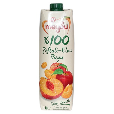 Meysu 100% Peach-Apple Juice 1L
