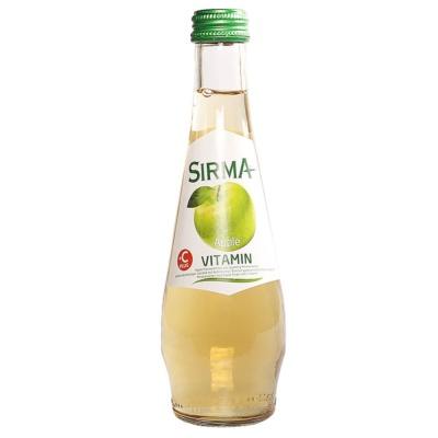 Sirma Apple Flavored Natural Sparkling Mineral Water 250ml