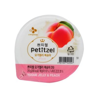 Cj Petitzel Yogur Peach Jelly 210g