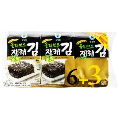 Chungjungone Seasoned Laver(Olive Oil) 9*4.5g
