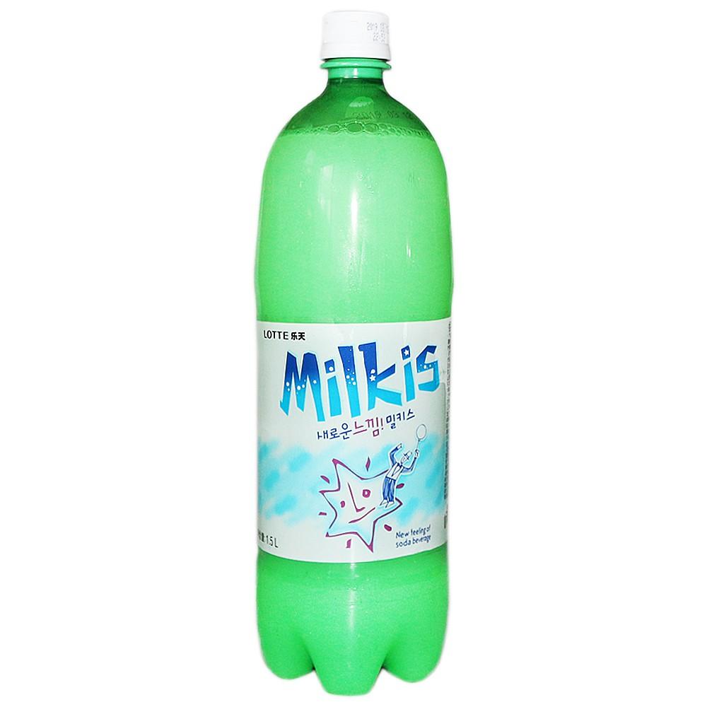 乐天牛奶苏打水 1.5L