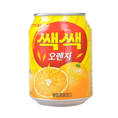 乐天粒粒橙水果饮料 238ml