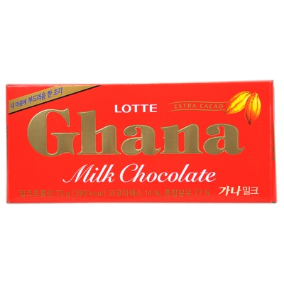 Lotte Chana Milk Chocolate 70g