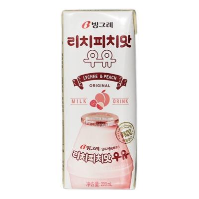 Binggrae Litchi Peach Milk Drink 200ml