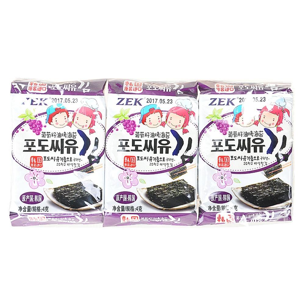 ZEK Grape Seed Oil Grilled Seaweed 12g
