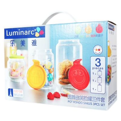 Luminarc Pot Rondo Smiles 3Pcs Set