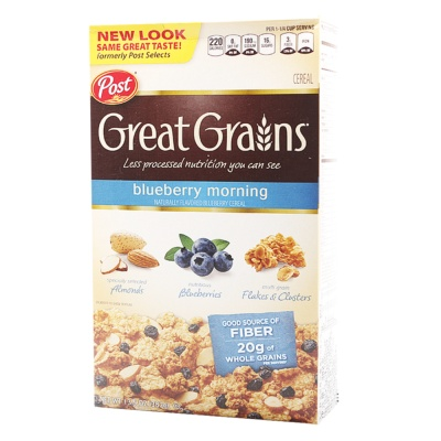 Post Great Grain Blueberry Morning Cereal 382g