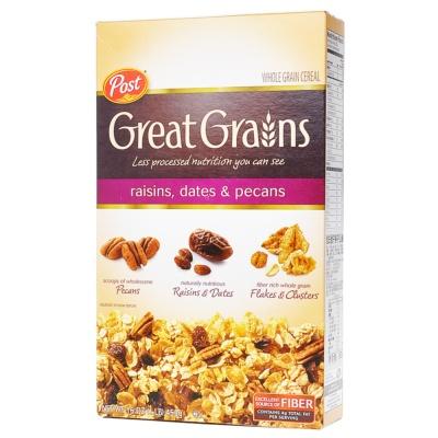 Post Great Grains Raisins Dates Pecans Whole Grain Cereal 453g
