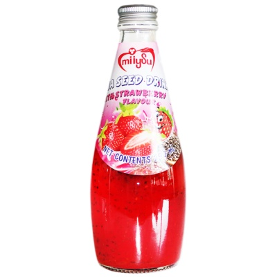 Miiysu Chia Seed Drink With Strawberry Flavour 290ml