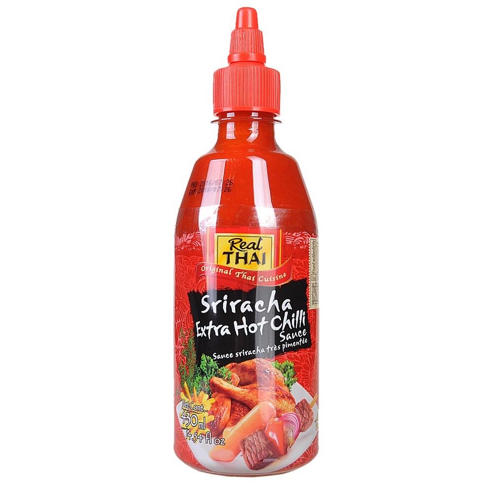 Real Thai Sriracha Extra Hot Chilli Sauce 430ml