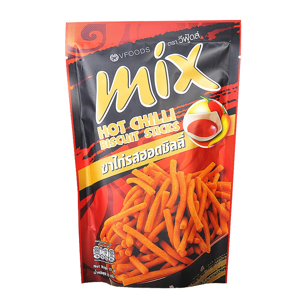 Vfoods Mix Hot Chilli Biscuit Sticks 75g
