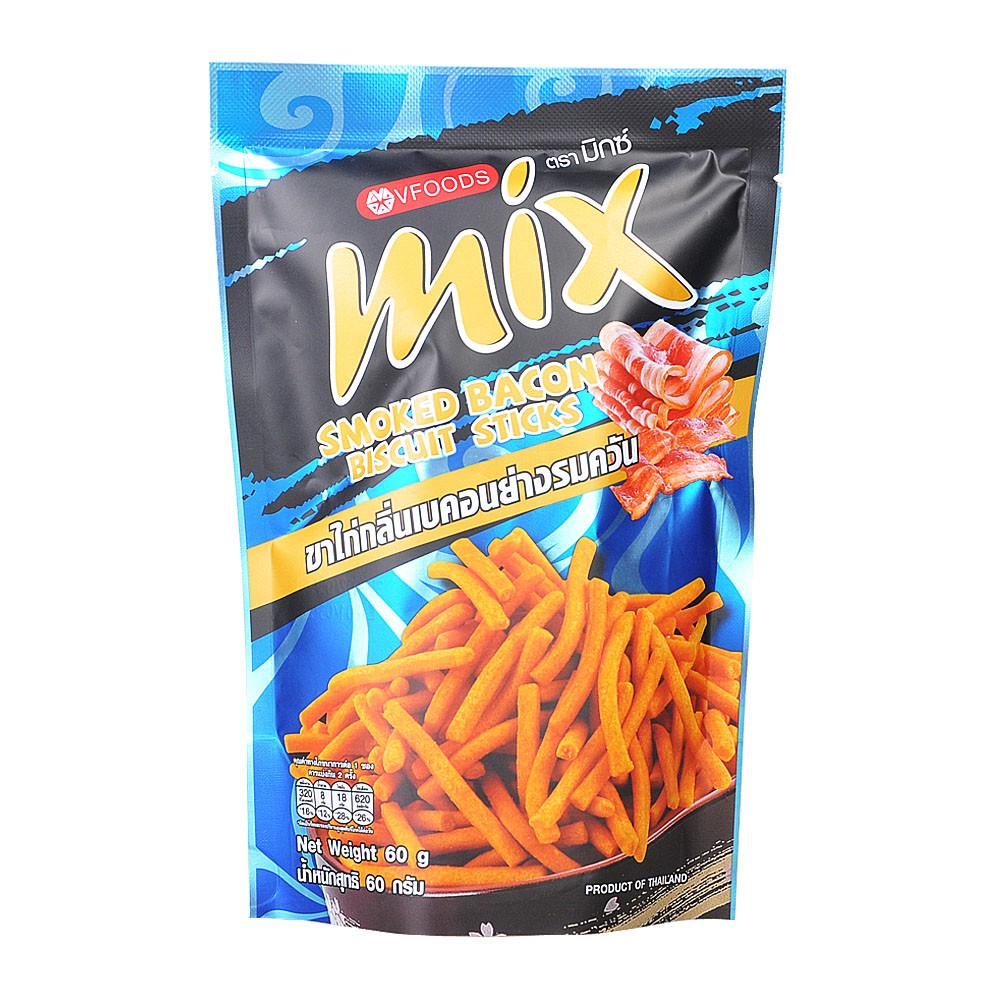 Vfoods Mix Smoked Bacon Biscuit Sticks 75g