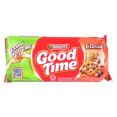 Arnott's Good Time Classic Chocolate Cookies 72g