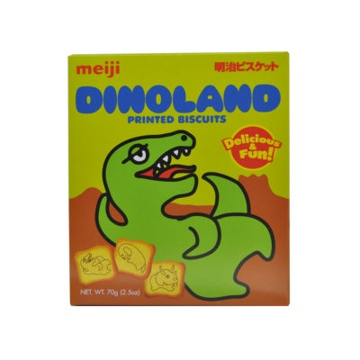 MeiJi Dinoland Printed Biscuits 70g