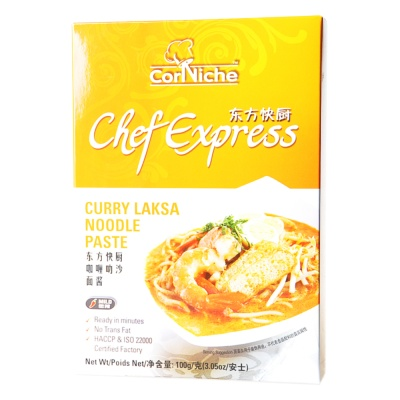 Corniche chef express curry laksa noodle paste 100g
