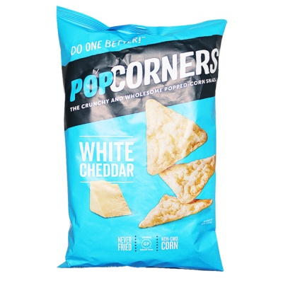 Popcorners Popped Whole Grain Chips, White Cheddar 142g