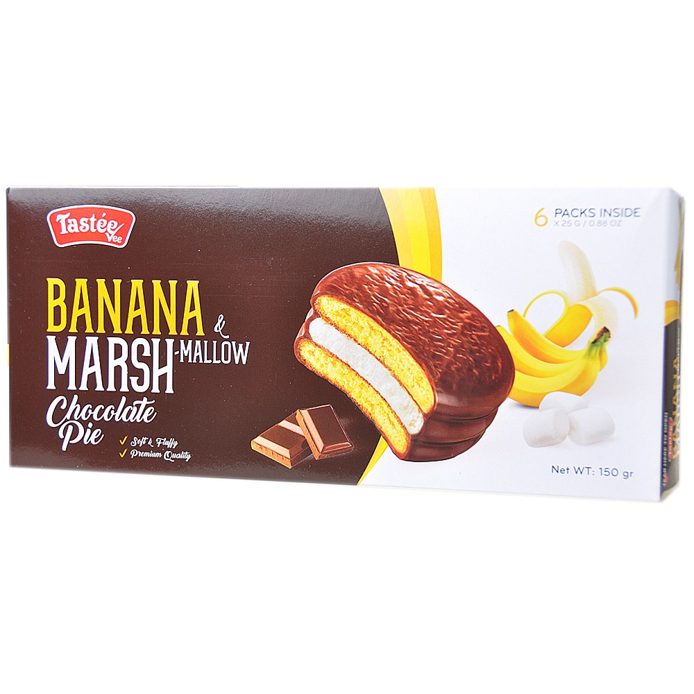 Banana Marsh-Mallow Chocolate Pie 150g