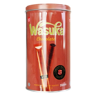 Wasuka Chocolate Premium Rolled Wafer 288g