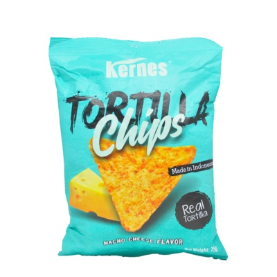 Kernes Nacho Cheese Flavored Tortilla Chips 75g