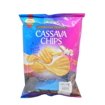 Papatonk Sea Salt & Garlic Flavor Cassava Chips 110g