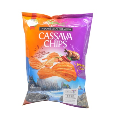 Papatonk Hot Spicy Roasted Chicken Flavor Cassava Chips 110g