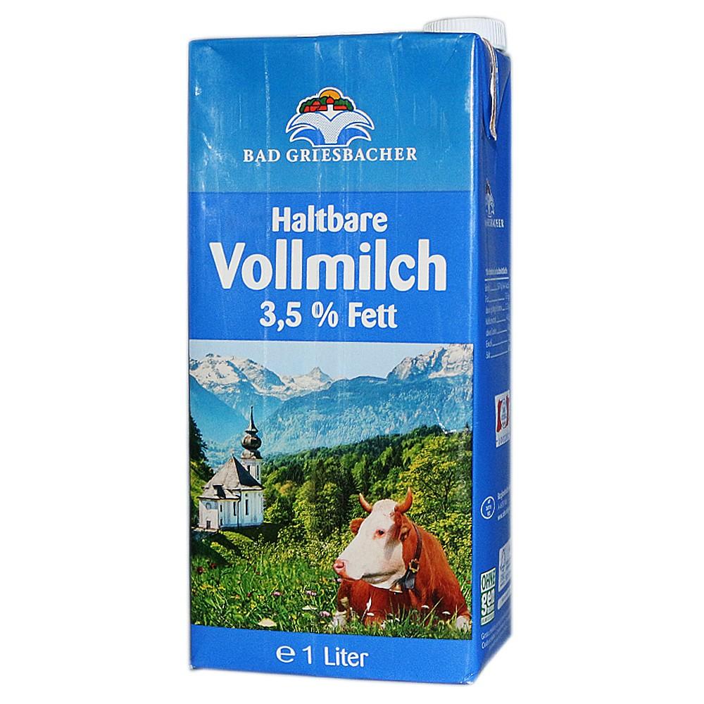 Bad Griesbacher Full Fat Pure Milk 1L
