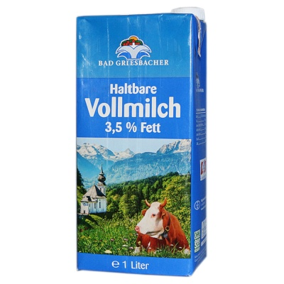 Bad Griesbacher Full Fat Pure Milk 1L