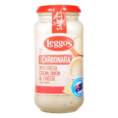 Leggo's Carbonara With Cream,Onion Cheese 490g