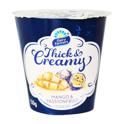Dairy Farmers Thick Creamy Mango & Passionfruit 150g