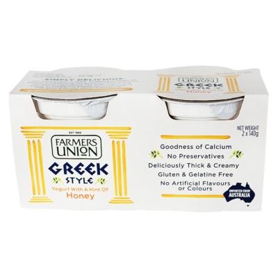 农夫联盟希腊式酸乳(蜂蜜味) 2*140g