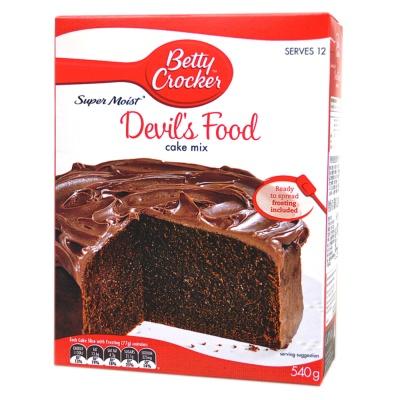 贝蒂妙厨超湿魔鬼蛋糕制作用粉 540g