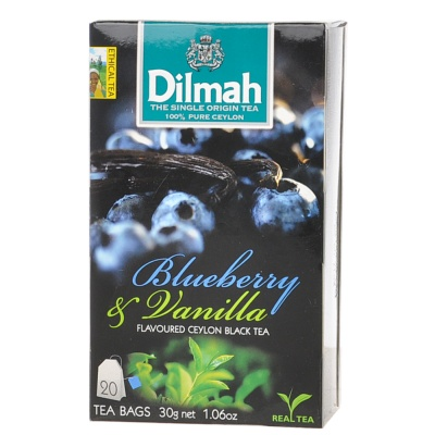 Dilmah Blueberry&Vanilla Flavoured Ceylon Black Tea 20*1.5g